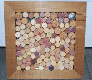 Arty corks framed